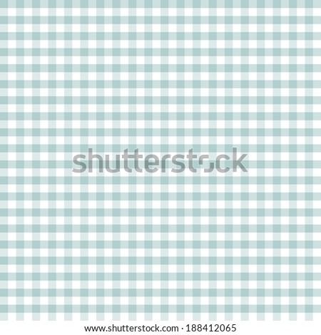 Green checkered kitchen background - stock vector