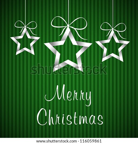 green christmas card. green christmas card concept - stock vector