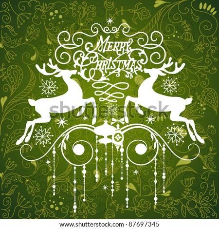 Green Christmas Ornament - stock vector