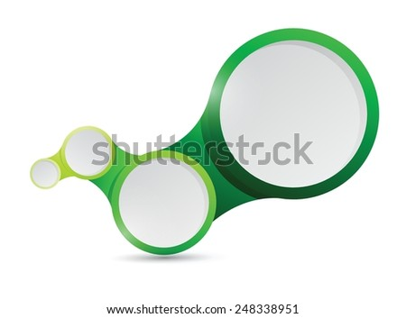 green circle links connection illustration design over a white background - stock vector