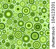 Green circles seamless pattern. - stock vector