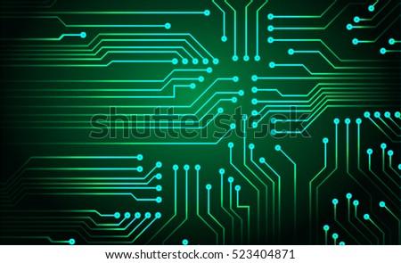 Green Circuit Board Vector Background Stock Vector 523404871 ...