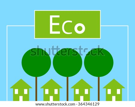 Green City Ecology Background - stock vector
