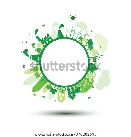green city sustainable nature concept ,vector illustration - stock vector
