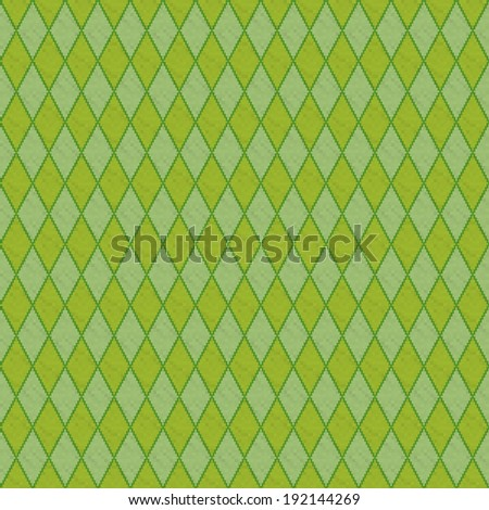 Green clean modern pixel diamond knitted seamless background pattern