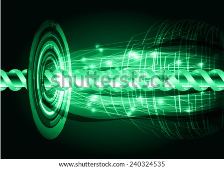 green color abstract technology background for for computer graphic website internet and business - stock vector
