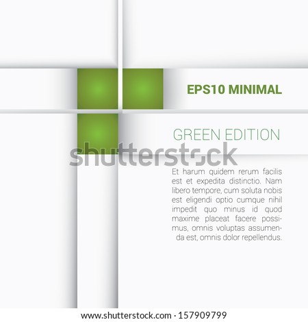 Green color concept edition of a minimal but colorful geometric abstract scalable and adjustable eps10 vector background design for universal use  - stock vector