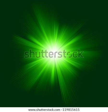 Green color design with a burst. EPS 8 vector file included - stock vector