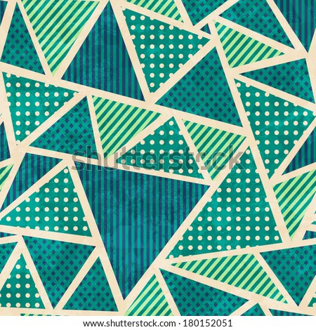 green color fabric seamless pattern with grunge effect - stock vector
