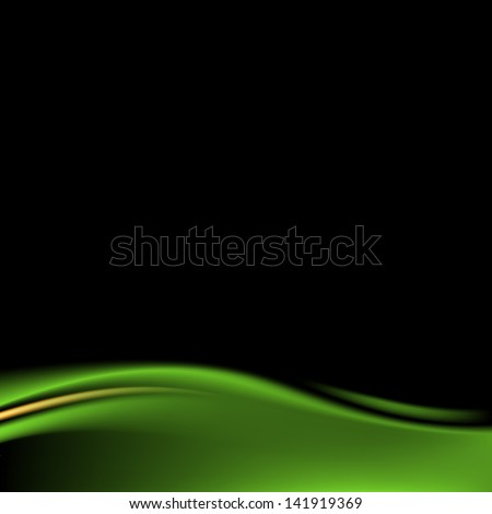 Green color stage curtain on black background in square format. Luxury backdrop wave strip in dark style. Empty space for text or sign. Wire mesh technique. Vector illustration design element 8 eps - stock vector
