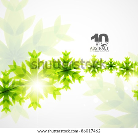 Green concept and Christmas. Vector abstract background - stock vector
