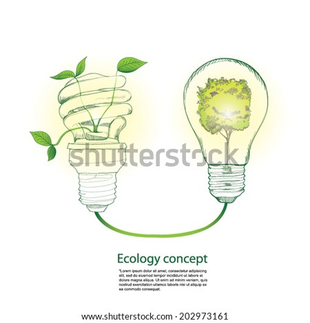 green concept, ecology concept, Vector Illustration.