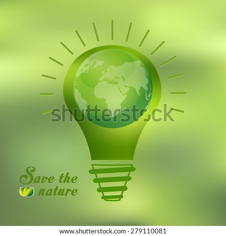 green concepts save energy, save the world