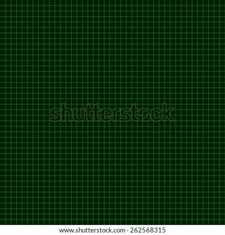 Green Coordinate Mesh Background. Vector Illustration. - stock vector