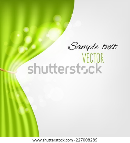 Green curtains vector background