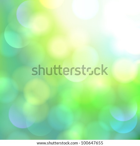 Green defocused abstract bright light background (bokeh) - vector illustration. - stock vector