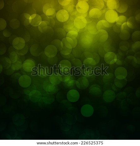 green Defocused Light, Flickering Lights, Vector abstract festive background with bokeh defocused lights.  - stock vector