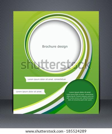 Green design brochure, magazine cover, flyer, or poster  - stock vector