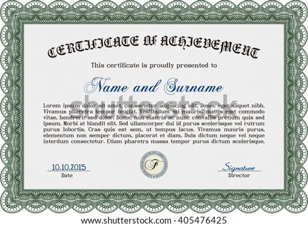 Red Certificate Template Colorful Background Vector – Money Certificate Template