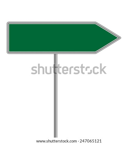 green direction sign. Vector illustrator