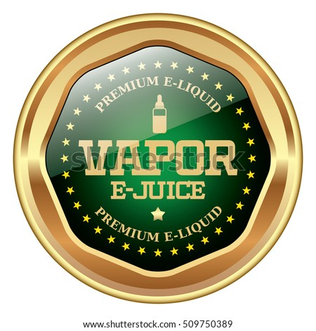 Green e-cigarette liquid icon