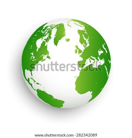 Green earth abstract - stock vector