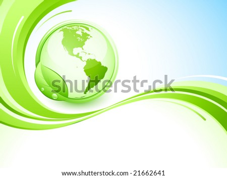 Green earth and abstract background - stock vector