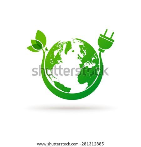 Green earth eco concept - stock vector