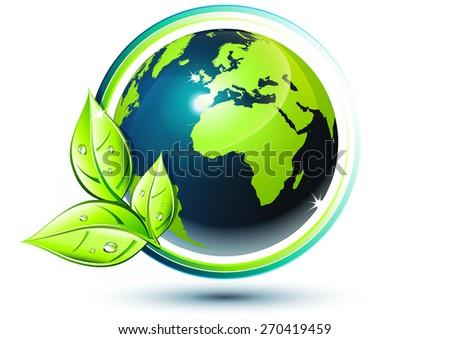 green earth - eco-friendly concept  - stock vector