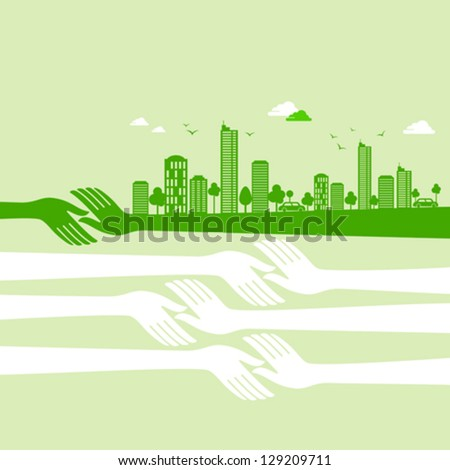 green earth- ecology concept - stock vector