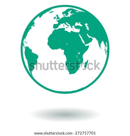 Green Earth. Ecology vector symbol - stock vector