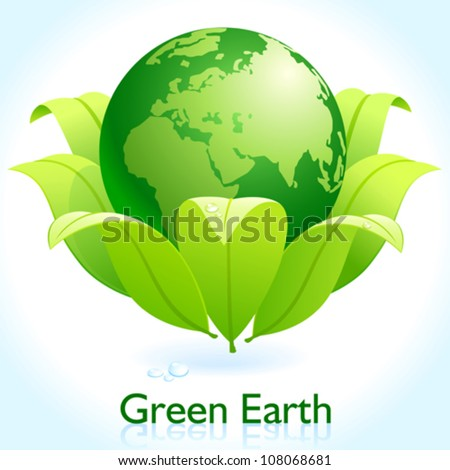 Green Earth - Protect Our Planet - stock vector