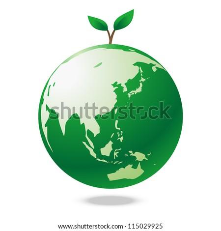 Green earth tree - stock vector