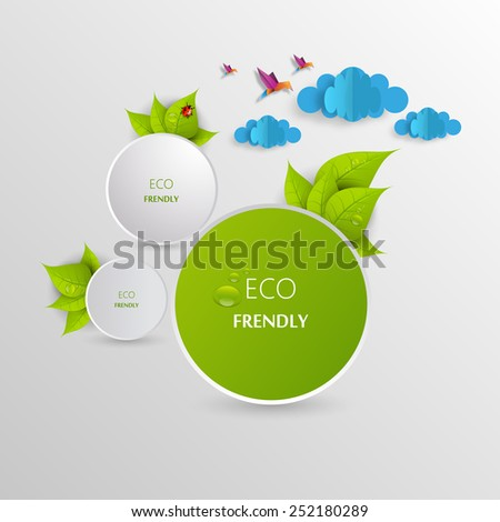 Green eco abstract design, Vector illustration eps 10 - stock vector