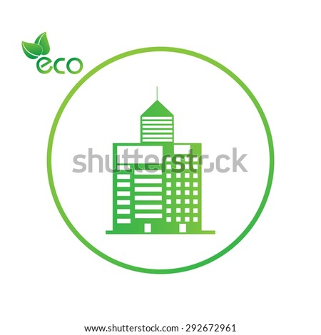 green eco abstract ecology - stock vector