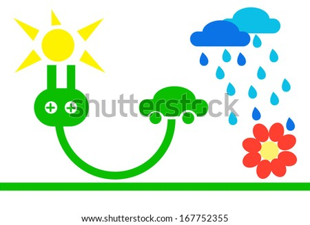 green eco  - abstract ecology  illustration  - stock vector