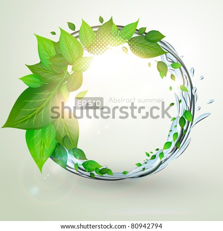 Green eco background - stock vector