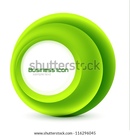 Green eco business emblem. Abstract vector circles background for information representation - stock vector