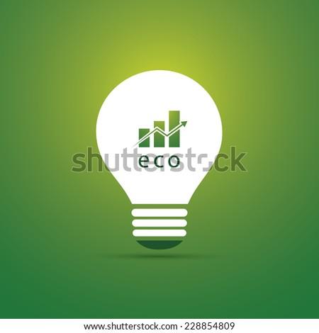 Green Eco Energy Concept Icon - Economic Growth - stock vector