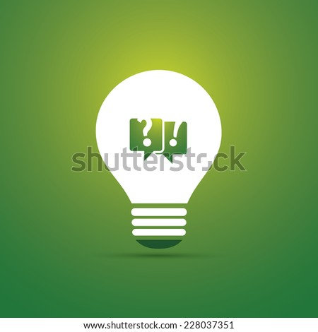 Green Eco Energy Concept Icon - Talk About the Sustainability - stock vector