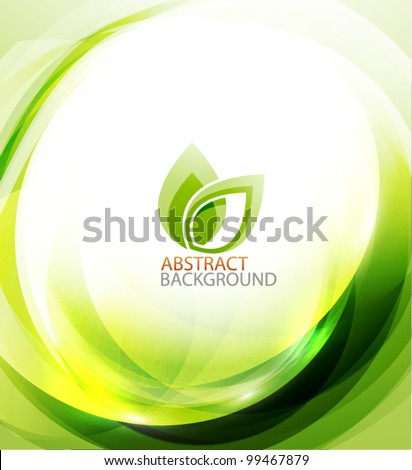Green eco energy motion background - stock vector