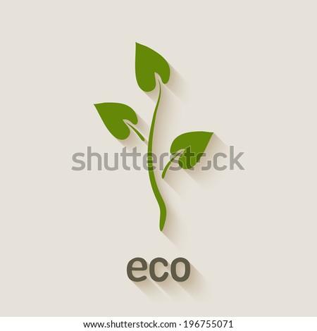 green eco icon - vector illustration. eps 10 - stock vector