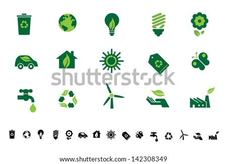 Green Eco Icons