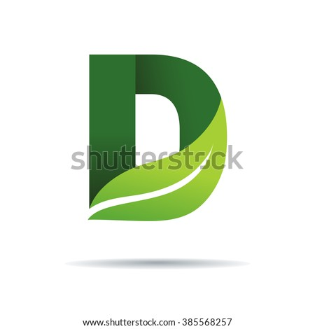 Green eco letters d logo leaves stock vector 385568257 shutterstock green eco letters d logo with leaves symbol alphabet botanical natural thecheapjerseys Image collections