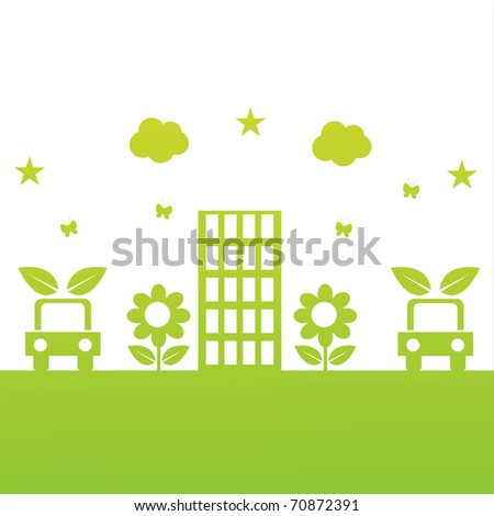 green ecological illustration