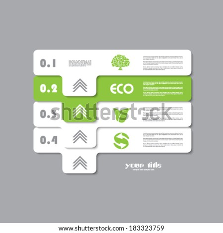 green ecology infographic vector signs - stock vector