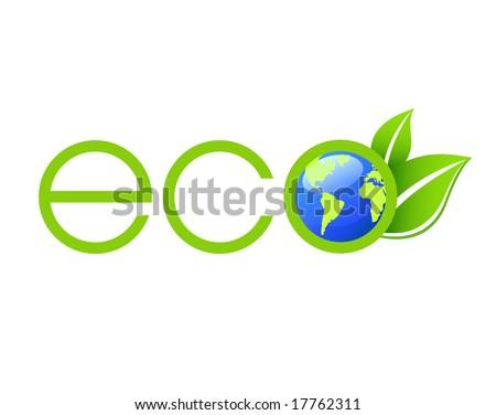 Green Ecology Logo - stock vector