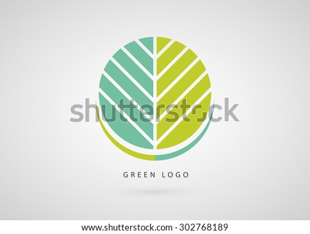 Green ecology logo template. Natural product sign icon. Vector design.  - stock vector