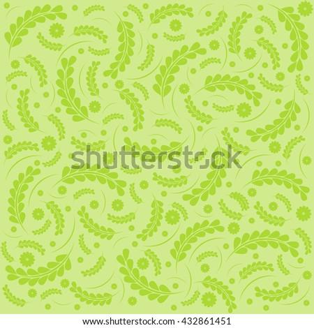 Green Elegance floral pattern. Beautiful flowers vector illustration. - stock vector