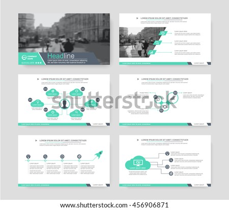 Green elements of infographics for presentations templates. Leaflet, Annual report, book cover design. Brochure, layout, Flyer layout template design. Vector Illustration. - stock vector
